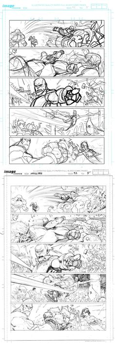 Invincible 92 page 5 process by *RyanOttley on deviantART