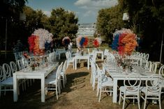 This ultimate Wedchella wedding was out of this world! This super fun couple decided to have the party of their life and tie the knot in Greece! Wedding Reception, Wedding Venues, Outdoor Furniture Sets, Outdoor Decor, Out Of This World, Athens, Real Weddings, Greece, Table Settings