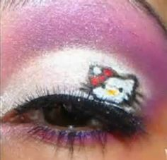 Free: DIY hello kitty makeup - Other Health & Beauty Items Eye Makeup, Beauty Makeup, Beauty Tips, Beauty Ideas, Makeup Stuff, Pure Beauty, Makeup Geek, Beauty Bar, Beauty Stuff