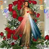 Jesus Our Savior, Jesus Art, Heart Of Jesus, Jesus Is Lord, Beautiful Notes, Beautiful Rose Flowers, Beautiful Gif, Pictures Of Jesus Christ, Religious Pictures