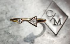 Not in my Christmas stocking but pinning anyway. :) Trilllion Diamond Cuff Ring set in 14K Yellow Gold