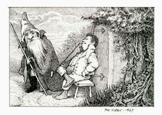 "Maurice Sendak's ""The Hobbit,"" in pen and ink, 1967 (Credit: Maurice Sendak/Beinecke Rare Book and Manuscript Library of Yale University)"
