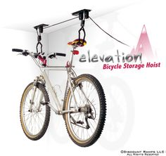 Elevation Bicycle Storage Hoist -- ceiling between kitchen and dining room