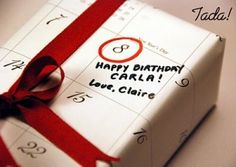 Calendar birthday wrap