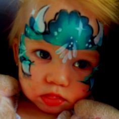 My daughters face painted from a birthday party! Beautiful monster!!!