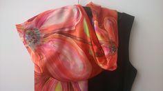 Silk Scarf Handpainted Red Floral. Hand Painted Art Silk Scarf 18x71 in Long. Byrgundy Flowers Designer Shawl. Shoulder Wrap. Foulard Soie by SilkLetters on Etsy https://www.etsy.com/au/listing/293244885/silk-scarf-handpainted-red-floral-hand