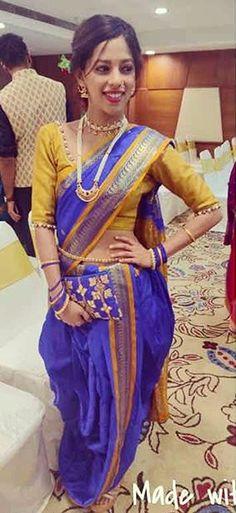 Kashta Saree, Sari, Nauvari Saree, Pride, Beautiful, Girls, Dresses, Women, Fashion