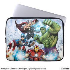 Avengers Classics Avengers Prepared To Attack Computer Sleeve Neoprene Laptop Sleeve, Laptop Sleeves, Iron Man Captain America, Computer Sleeve, Custom Laptop, Custom Mouse Pads, Day Use, Artwork Design, Happy Shopping