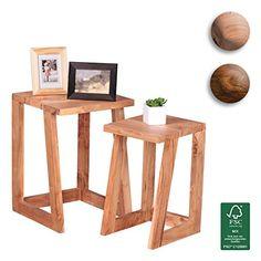 FineBuy Couchtisch Massiv Holz Akazie 110 Cm Breit Wohnzimmer Tisch Design Dunkel Braun Landhaus Stil Beistelltisch Natur Produkt Wohnzimmermbel U