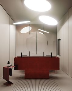 Futuristic home interior with unique furniture designs, creative lighting installations, contrasting colour schemes with red & green decor, and minimalist style Wc Symbol, Unique Furniture, Furniture Design, Furniture Decor, Futuristic Home, Black Side Table, Bedroom Red, Coffee Table Design, Bathroom Interior Design