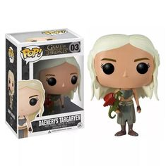 Funko - Game of Thrones Daenerys Targaryen Vinyl Figure-If you've ever wanted a Pop! Vinyl figure from HBO's hit television show Game of Thrones, then now's your chance! This excellent Game of Thrones Daenerys Targaryen Pop! Vinyl Figure features the Funko Game Of Thrones, Game Of Thrones Arya, Game Of Thrones Funny, Pop Vinyl Figures, Funko Pop Figures, Daenerys Targaryen Khaleesi, Game Of Throne Daenerys, The Avengers, Funko Pop Marvel