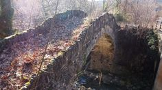 galterousia stone bridge near village of doliani in zagori - epirus greece
