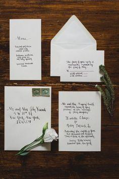 calligraphy invitation | Kate Ignatowski