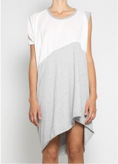 stern dress white grey