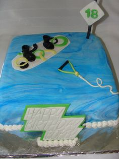 Wakeboard cake. I think I need to keep this one in mind for sure.