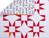 Red and White Modern Baby and Toddler Quilt