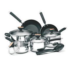 Paula Deen Signature 12-piece Stainless Steel Cookware Set   Overstock.com Shopping - Great Deals on Paula Deen Cookware Sets