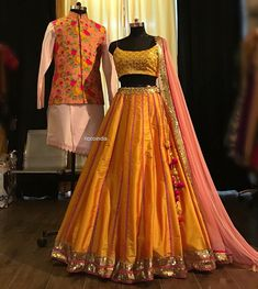 Indian designer mustard lehenga choli for wedding outfits. For order whatsapp us on wedding outfits wedding dress wedding dresses lengha lehnga sabyasachi manish malhotra Indian Wedding Gowns, Indian Bridal Outfits, Indian Gowns Dresses, Pakistani Bridal Dresses, Indian Designer Outfits, Wedding Lehanga, Indian Designers, Wedding Mandap, Wedding Stage