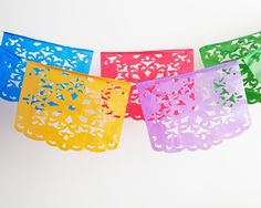 Mexican Flower Cut-Out Banner-100ft - Hanging Decorations - Party - Shop Cakegirls $14.99 for 100 ft