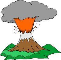 baking soda & vinegar volcano experiment