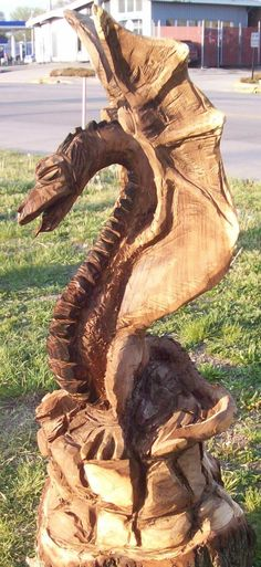 Chainsaw carved bench woodworking carving rustic