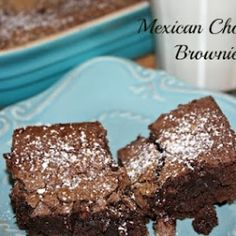 Mexican Chocolate Brownies.