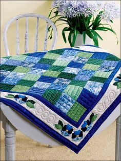 Blues table topper
