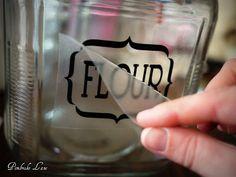 Pembroke Lane: Labeled Glass Pantry Jars & a Vinyl Transfer Tutorial