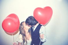 I want to take a picture like this with my future boyfriend :)  #couple #heart #balloons