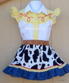 DELUXE Jessie inspired skirt outfit. Toy Story. Cowgirl Birthday Party Western Wear OOC Pageant
