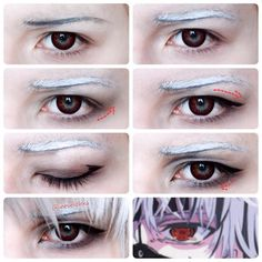 Kaneki Ken Makeup Tutorial   These lenses are Vampire from @fantasmagoriashop   Hope this will be helpful for you   #kenkaneki #kanekikencosplay #tokyoghoul #tokyoghoulre #cosplaymakeup #makeuptutorial #animeeyes #tokyoghoulcosplay #tgcosplay #ghoul #redeyes #malemakeup #makeupartist
