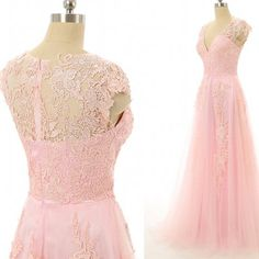 Long Evening Dress,Appliques and Lace Prom Gown,Sexy Prom Dress by fancygirldress, $159.00 USD