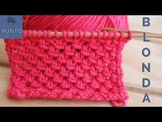 Cómo tejer el Punto Blonda en dos agujas: un calado fácil y súper bonito - YouTube Knitting Stitches, Knitting Designs, Hand Knitting, Winter Time, Merino Wool Blanket, Sewing, Charms, Cold, Youtube