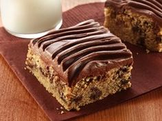Gluten Free Peanut Butter Chocolate Chip Bars with Chocolate Frosting