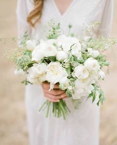 Spot-on bouquet, but with more silvery (olive) greens than this. LOVE!