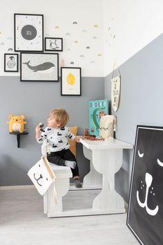 De make-overs van Eli's stoere jongenskamers Nursery Design, Nursery Decor, Desk Areas, Play Spaces, Nursery Inspiration, Nordic Style, Pastel Colors, Colours, Kids Bedroom