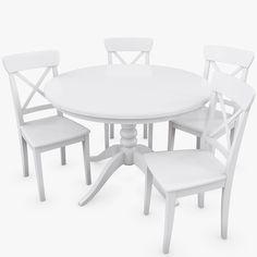 stolica imamo i slican ovalan stol plus jedna djecja ikea ingolf