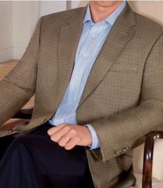 Signature Gold 2-Button Sportcoat-Gold Microcheck- Sizes 44-52