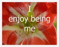 I enjoy being me affirmation card - come read the article on what this card means to me today - over the next few weeks I'll pick out a card and day