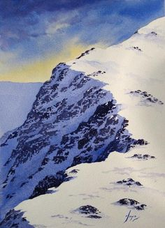 One of my watercolour mountain scenes.