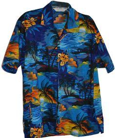 Men's XL Hawaiian Shirt by Uluwatu 100% Polyester #Hawaiian