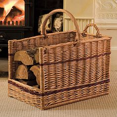 Two Handle Log Basket - fireplace accessories £50