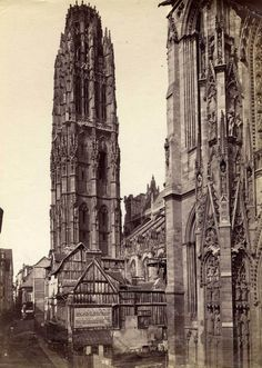 Anonymous (BB594) France. The Butter Tower of Rouen. Circa 1880.
