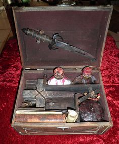 Often Imitated But Never Duplicated: The Most Incredible, Elaborate and Absolutely Stunning Original Authentically Primitive-Styled Turn of the Century Vampire Killing Kits are Created by World-Renown Gothic Artist CRYSTOBAL.