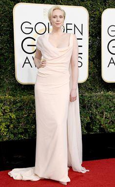 Gwendoline Christie from 2017 Golden Globes Red Carpet Arrivals