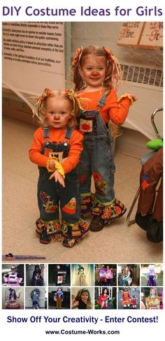 Cute Scarecrows - a lot of DIY costume ideas for girls!