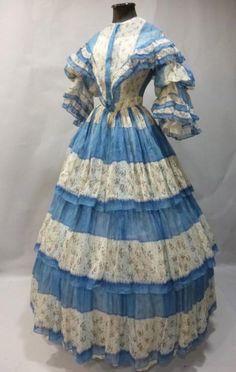 Dress, ca 1850s