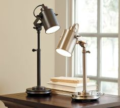 I need a new desk lamp.  I like the contemporary aspect of these.  They almost look like the studio lights you'd see on a film set.