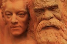 Clay Head Sculptures by William Ricketts | Alice Springs Photography Exhibition, Stefan Carrillo | Distant Journeys | http://www.distantjourneys.co.uk/blog/photographer-brings-locked-away-sculptures-back-to-the-forefront-of-alice-springs/