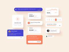 Freebie | App User Interface Elements - Figma UI kit by Andrew Mamontov on Dribbble